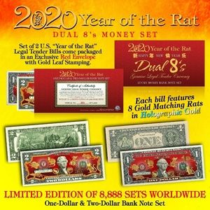 Other - 2020 YEAR OF THE RAT $1/$2 Lunar New Year Set